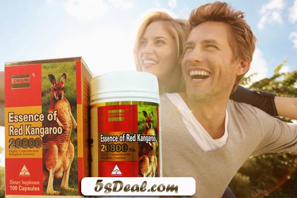 Essence Of Red Kangaroo với hàm lượng 20800 giúp tăng cường sinh lý nam, khắc phục yếu sinh lý ở nam giới, giảm tình trạng liệt dương, xuất tinh sớm, nâng cao chất lượng tinh trùng…