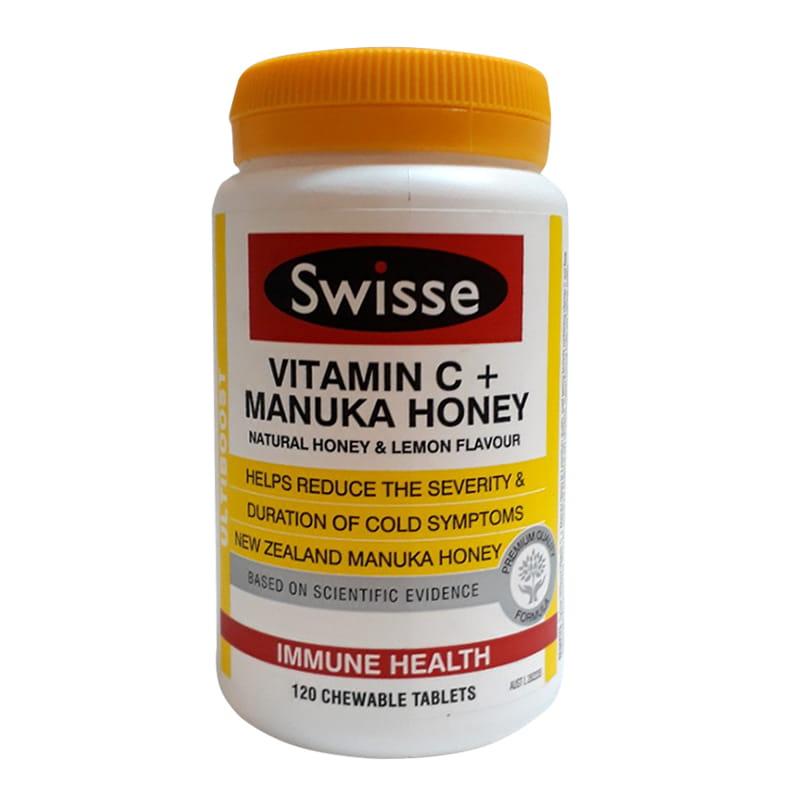 Viên uống tăng miễn dịch Swisse Vitamin C Manuka Honey của Úc