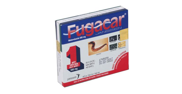 Viên uống tẩy giun Fugacar 500mg - Vị trái cây