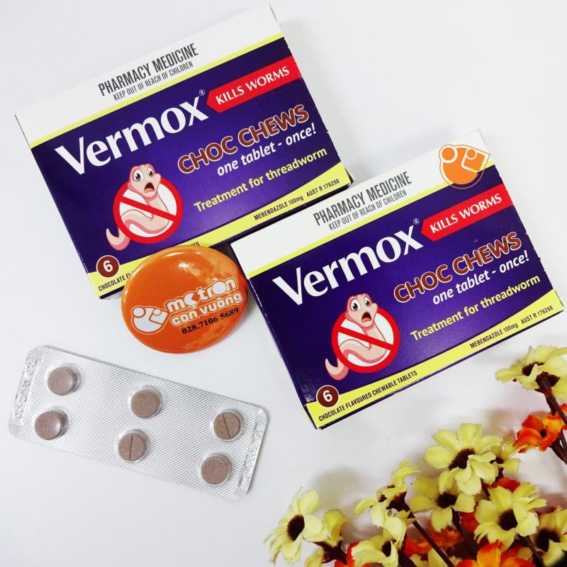 Viên uống tẩy giun Vermox của Úc