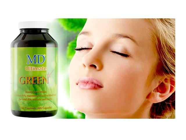 Viên uống thải độc và trị mụn MD Ultimate Green