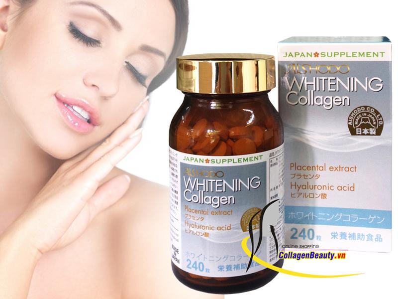 Viên Uống Trắng Da, Trị Nám Whitening Collagen Aishodo Nhật Bản: