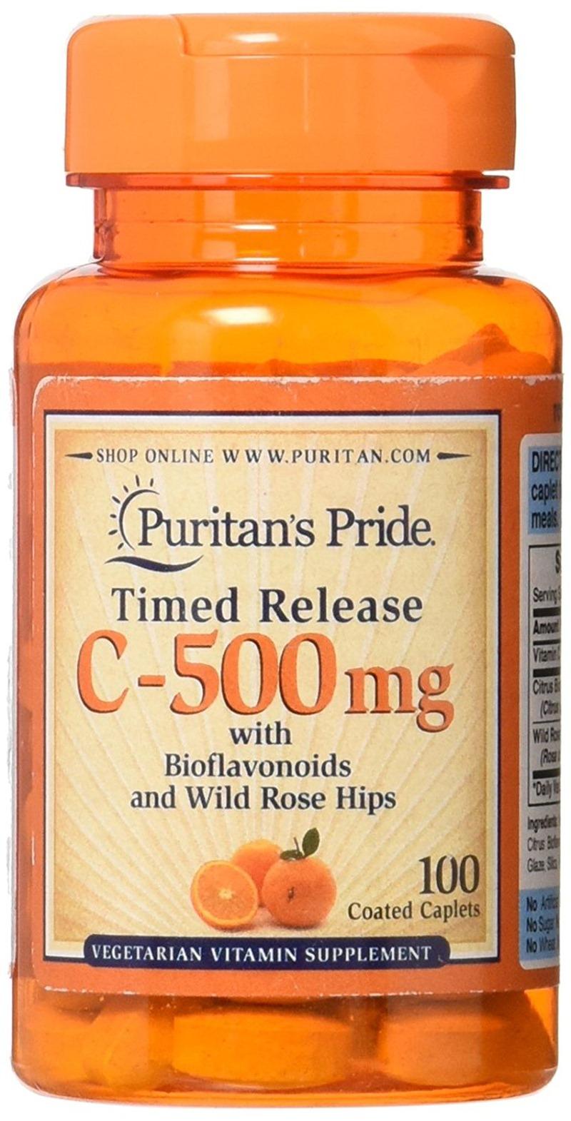 Viên uống Vitamin C 500mg Puritans Pride 100 viên của Mỹ
