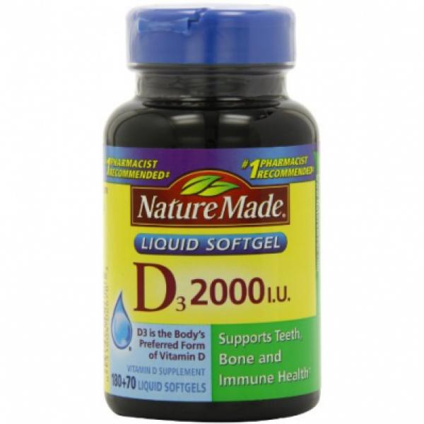 Viên Uống Vitamin D3 2.000 I.U Liquid Softgels Nature Made