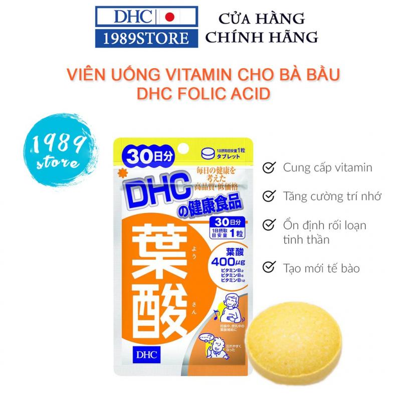 Viên uống vitamin dành cho Bà bầu DHC Folic Acid