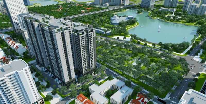 Phối cảnh chung cư Việt Đức Complex