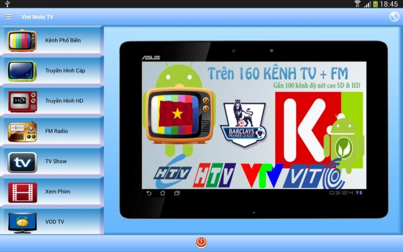 Viet Mobi TV là ứng dụng xem tivi trên android miễn phí rất đáng để bạn trải nghiệm