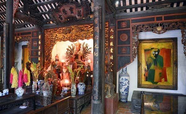 Gian thờ phật trong nhà Thanh Tĩnh