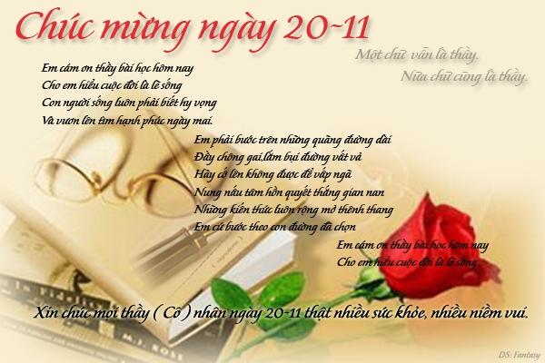 Viết thư cho cô giáo cũ chúc mừng 20-11