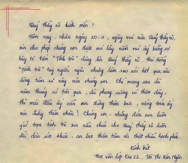 Viết thư cho thầy cô – Món quà ý nghĩa