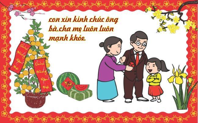 Viết thư thăm hỏi và chúc mừng năm mới ông bà