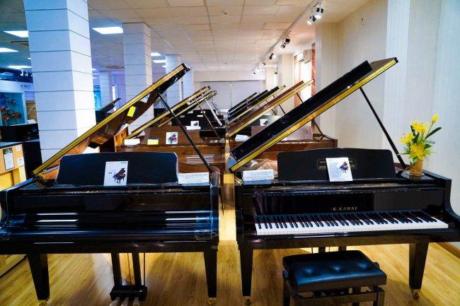Khu trưng bày đàn piano cao cấp Grand piano
