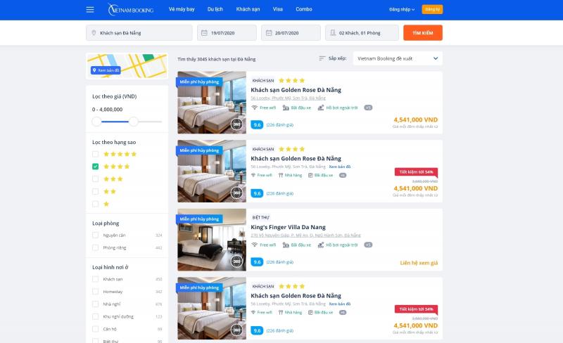 Đặt khách sạn tại Vietnam Booking (VietnamBooking.com)