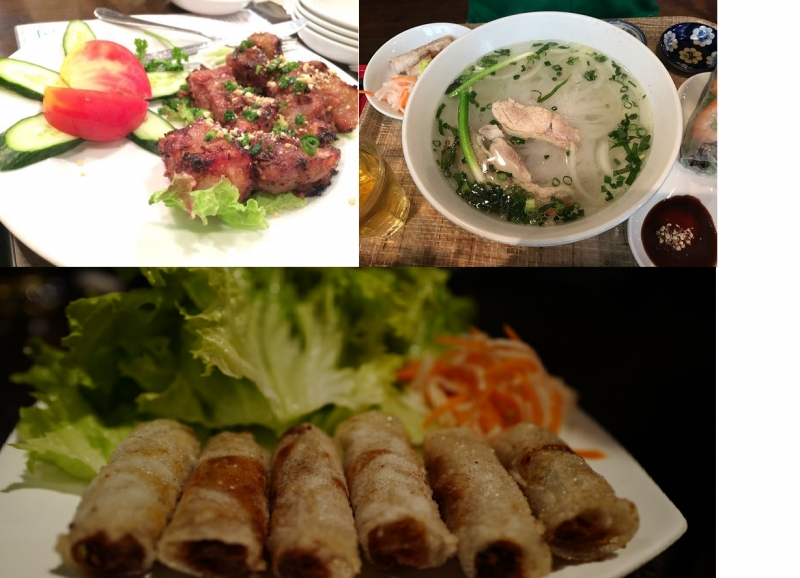 Món ăn Việt ở quán.
