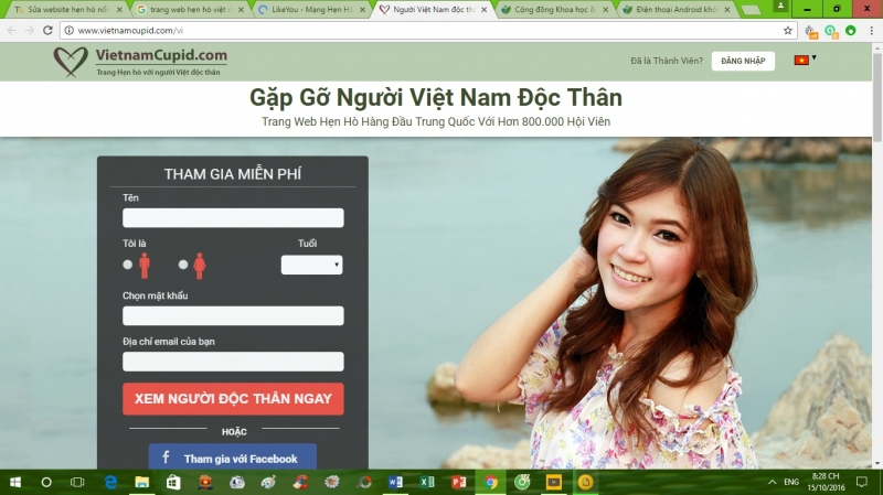 Web VietnamCupid