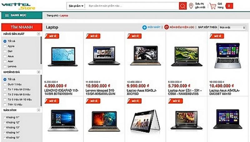 Giới thiệu về website Viettelstore.vn