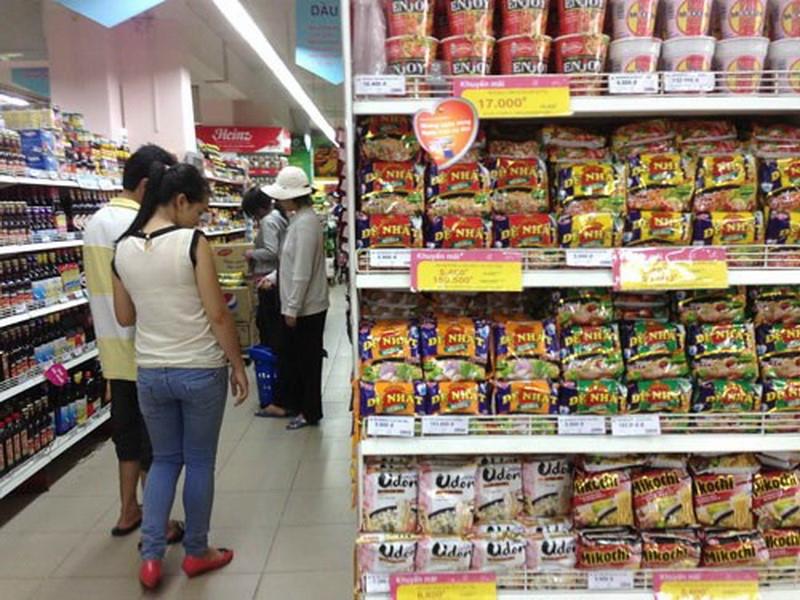 Vifon được bày bán tại các siêu thị