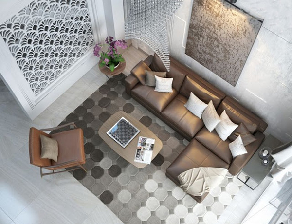 Phòng khách hiện đại, đẹp mắt của Vina home
