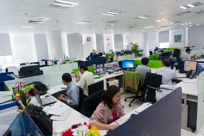 Một góc văn phòng làm việc hiện đại tại Công ty Vinamilk.