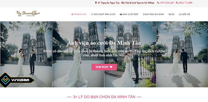 Thiết kế web ảnh viện áo cưới Minh Tân