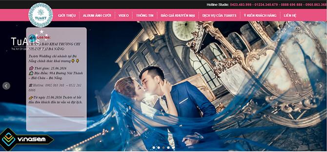 Thiết kế web ảnh viện áo cưới TUART