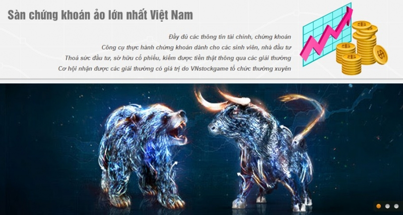 Giao diện của VN Stock Game