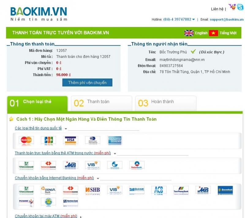 Baokim.vn là hệ thống thanh toán trực tuyến, cũng là một sản phẩm khá thành công của VNP