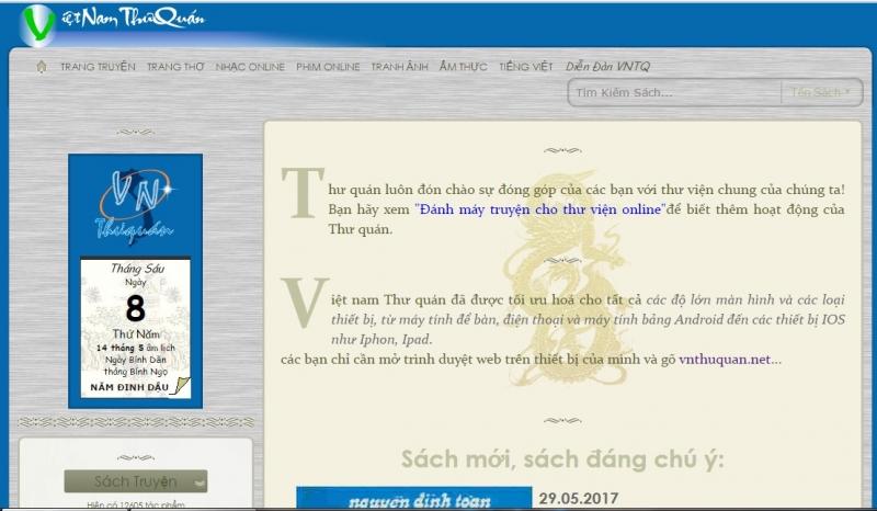 Website của Vnthuquan.net