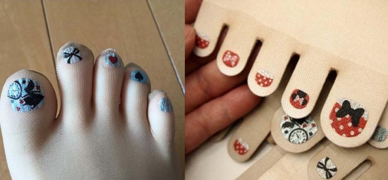 Vớ có sẵn sơn móng chân