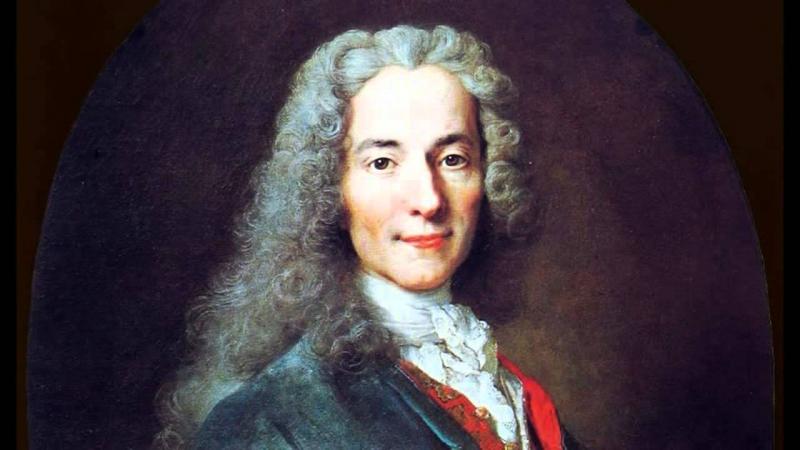 Tranh vẽ Voltaire