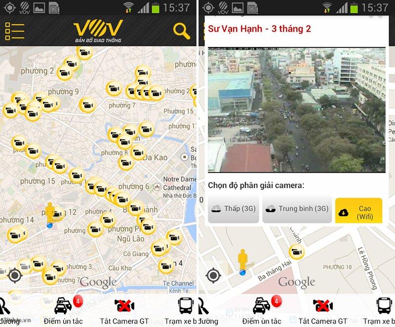 VOV bản đồ giao thông