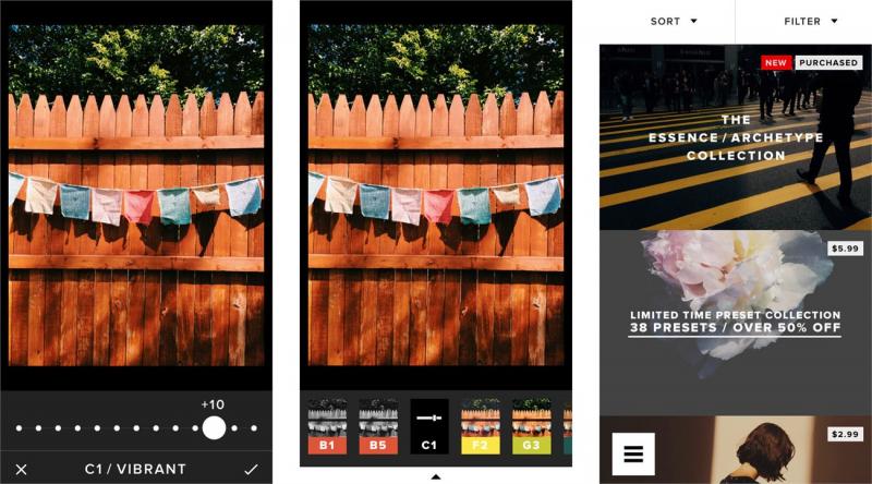 Ứng dụng chỉnh sửa ảnh VSCO cam