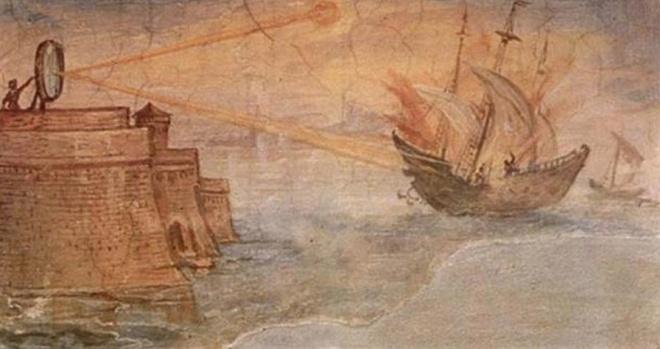 Vũ khí tia sáng Mặt trời của Archimedes