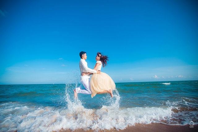 Chụp ảnh cưới tại bãi Sau, Vũng Tàu