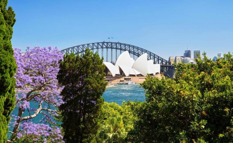 Vườn bách thảo hoàng gia Sydney, Úc