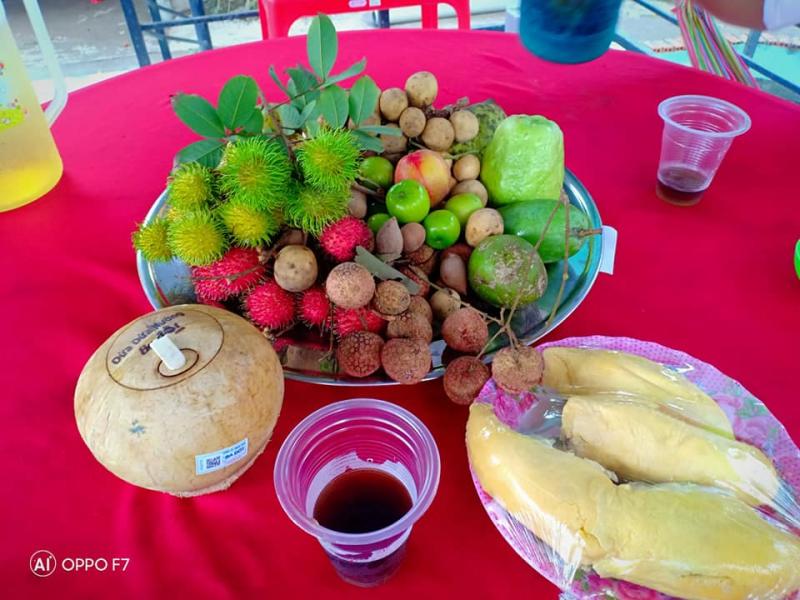 Buffe trái cây tại vườn Bảo Thạch