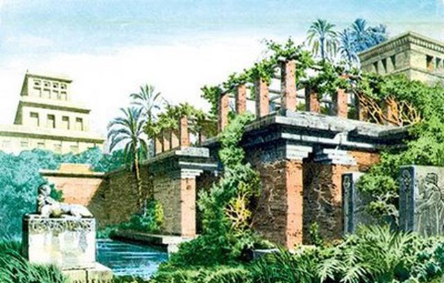 Hiện tại, vườn treo xinh đẹp đầy thơ mộng ấy chỉ còn là tàn tích