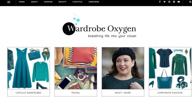 Website của Wardrobe Oxygen
