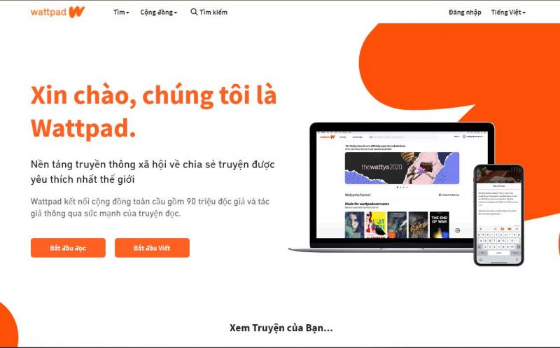 Website của Wattpad