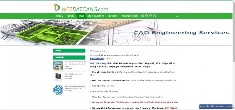 Webdatcang với dịch vụ thiết kế web giá chỉ từ 2.000.000 đồng.