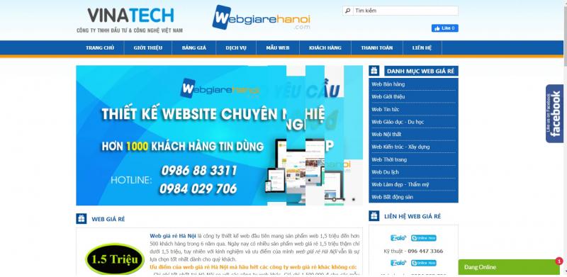 Web giá rẻ Hà Nội
