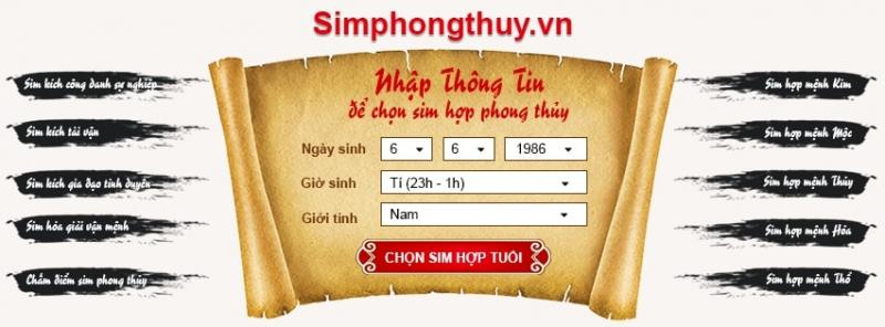 Sim Phong Thủy