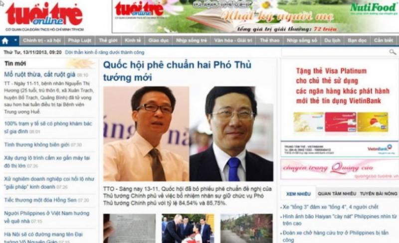 Trang chủ báo Tuổi trẻ online