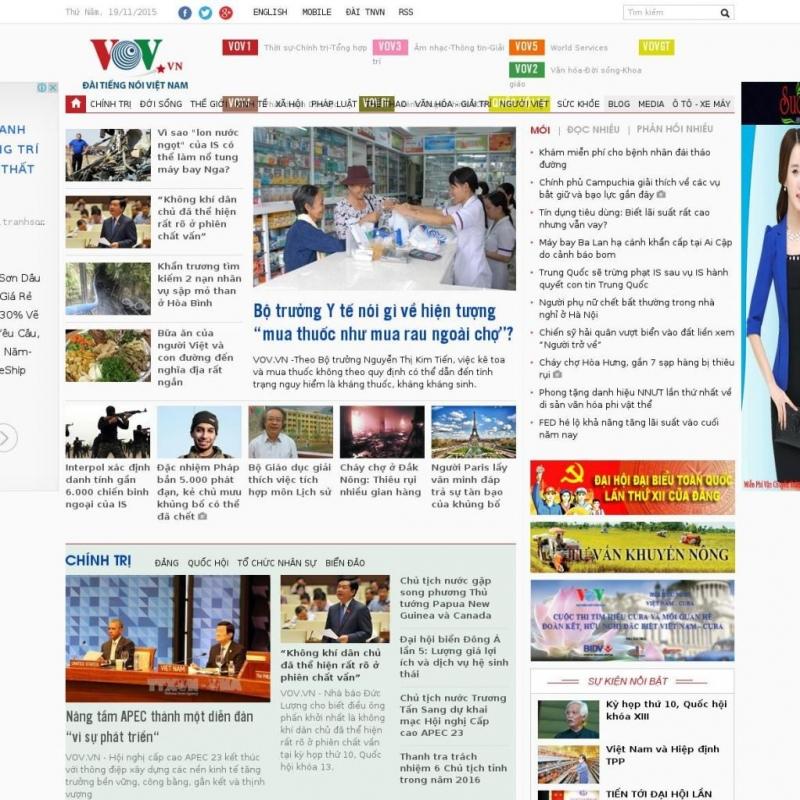 Trang chủ báo điện tử VOV