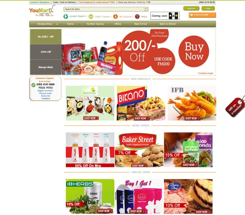 Website thực phẩm Youmart