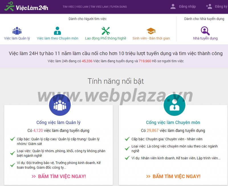 ( Vieclam24h.vn là trang web tìm việc làm uy tín tại Việt Nam)