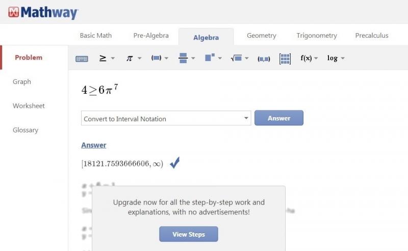 Website về toán học – Mathway