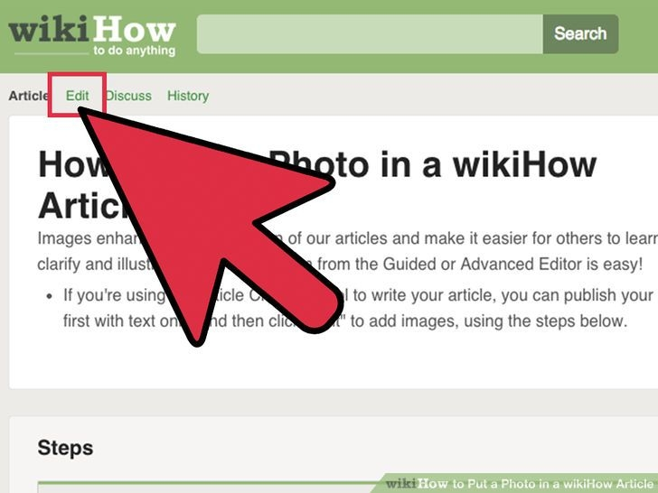 Giao diện của wikiHow