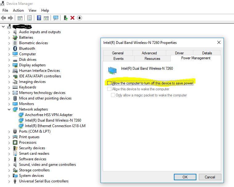 Xử lý Windows 10 thường xuyên hủy kết nối Wi-Fi