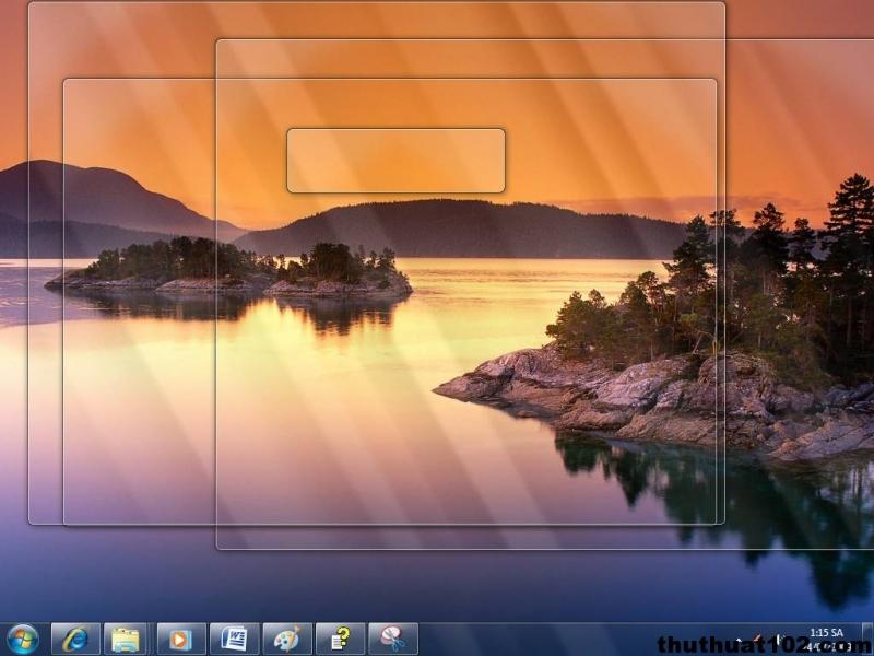 Nếu đây là hình nền Desktop của bạn và bạn muốn thấy một lát hãy bấm Windows + Space